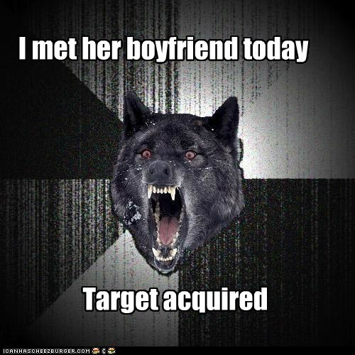 I met her boyfriend today Target acquired