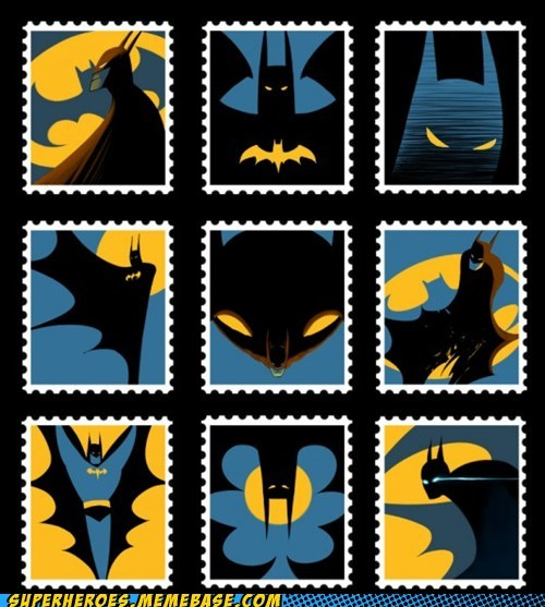 amazing Awesome Art batman first class stamps - 5452517888