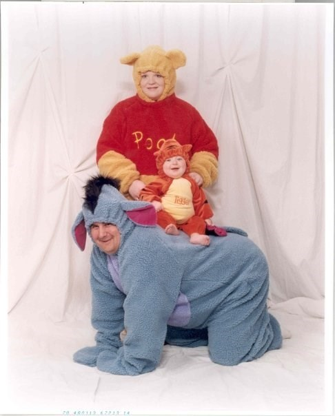 cartoons costume creepy family portrait Parenting Fail tigger winnie the pooh - 5452525056
