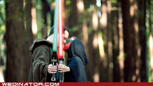 funny wedding photos geek Jedi sith star wars wedding - 5452541696