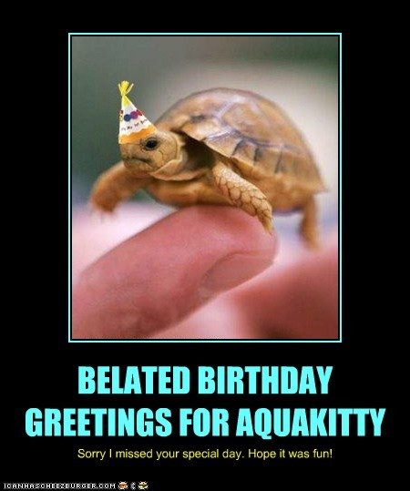 BELATED BIRTHDAY GREETINGS FOR AQUAKITTY