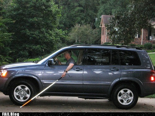 blind cars driving suv - 5452640768