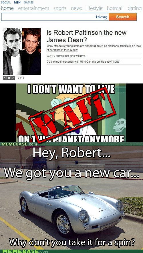 car,crash,i dont want to live on this planet anymore,James Dean,robert pattinson,solution,twilight