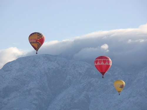 Albuquerque clouds getaways hot air balloons mountains new mexico north america united states - 5452738048
