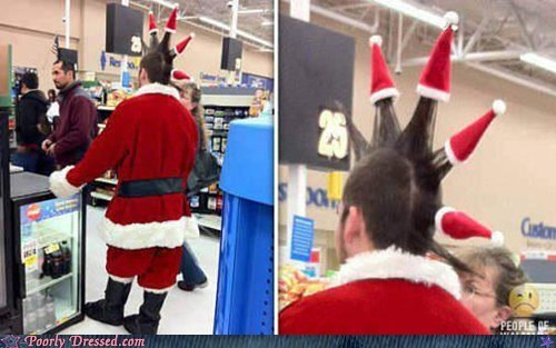 ho ho ho santa spiked hair santa winter weird