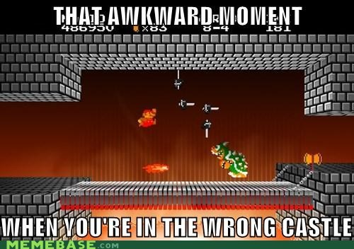 Awkward,castle,mario again,Memes,moment,wrong