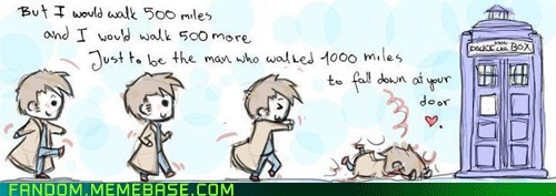 500 miles doctor whoo Fan Art tardis