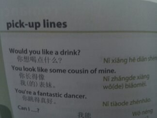 lost in translation,picking up girls in Chinese,pick-up lines