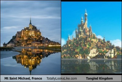 disney,france,funny,geography,mt-saint-michael,tangled,TLL