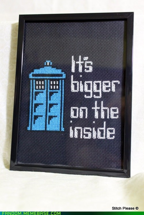 cross stitch doctor who Fan Art tardis - 5454062080