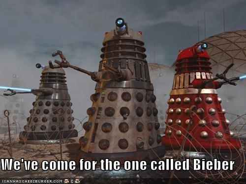daleks doctor who Exterminate justin bieber - 5454124032