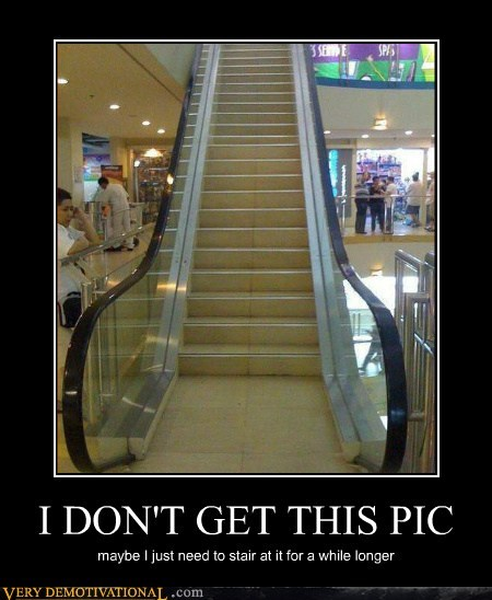 wtf escalator stairs