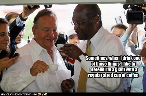 coffee,herman cain,political pictures