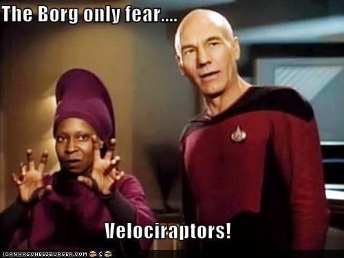 borg patrick stewart Star Trek velociraptors whoopie goldberg - 5454976768