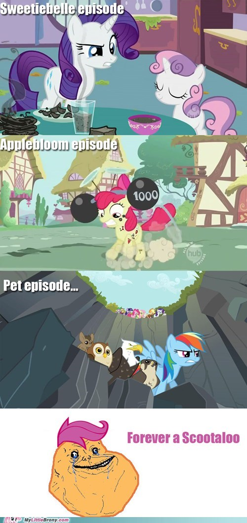 chicken,comic,comics,cutie mark crusaders,forever alone,Scootaloo,season 2