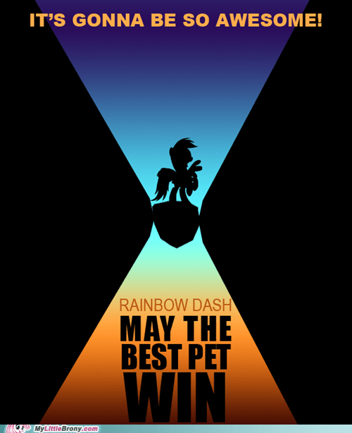 awesome crossover may the bet pet win poster rainbow dash - 5455601920