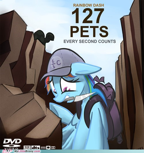 127 Hours crossover movies pets rainbow dash tank - 5455659264
