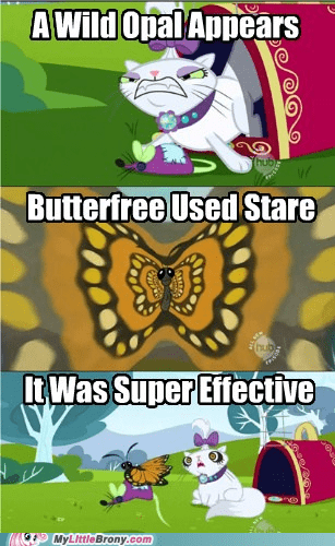 Butterfree comic comics opal Pokémon stare super effective - 5455778048