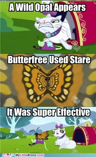 Butterfree comic comics opal Pokémon stare super effective - 5455778048