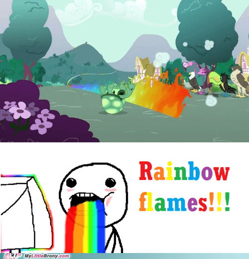 20 Percent Cooler fire trail hnnnnng rainbow dash rainbow flames - 5455861504