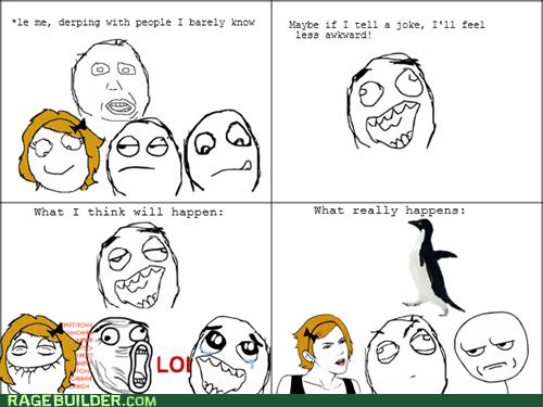 expectations vs reality joke Rage Comics socially awkward penguin - 5456212992