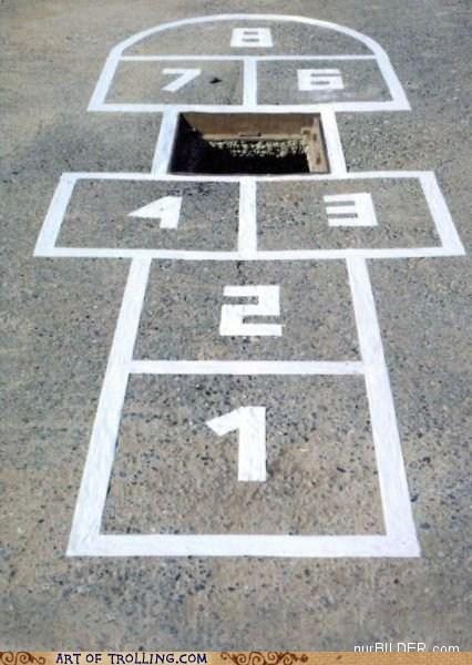 hole hopscotch IRL manhole - 5456214528
