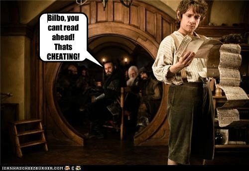 Bilbo Baggins cheating Martin Freeman reading The Hobbit - 5456245760