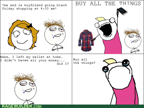 all the things black friday money Rage Comics wallet