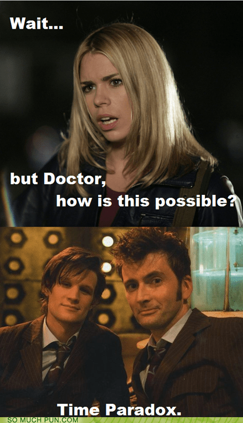 answer,docs,doctor who,double meaning,Hall of Fame,homophones,literalism,pair,paradox,question,time