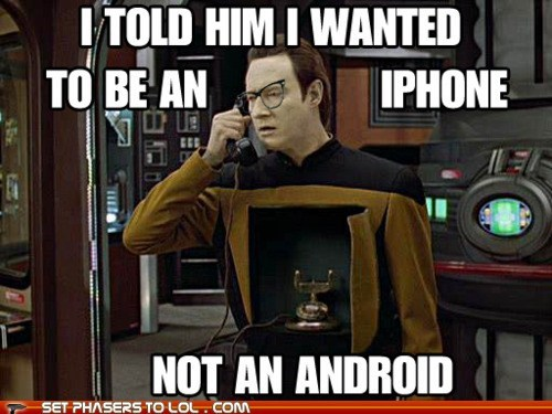 android,brent spiner,data,hipster,iphone,Star Trek