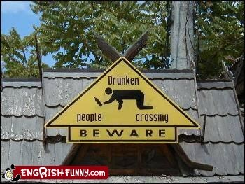 civililed drunk people crossing eating gorillas no fish Warning Sign Fails Warning Sign Wednesday - 5456788992
