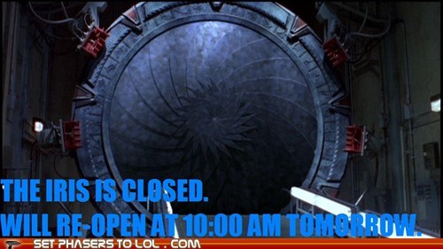 closed earth iris Stargate Stargate SG-1 - 5457668352