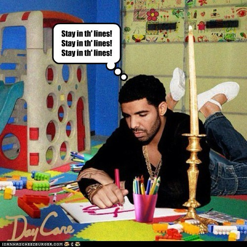 art coloring day care Drake drawing kids lines photoshopped take care - 5457820928