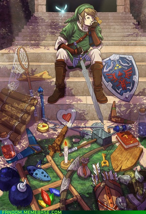 Fan Art legend of zelda link navi video games - 5458287360