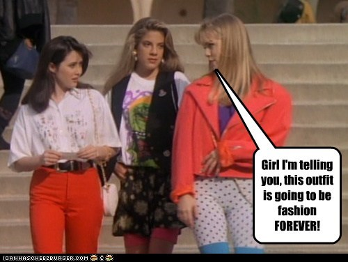 90s Beverly Hills 90210 clothing fashion retro ugly - 5458543104