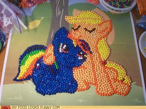 apple jack,best of the week,my little pony,rainbow dash,skittles