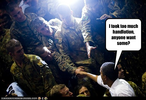 barack obama,lotion,political pictures,soldiers