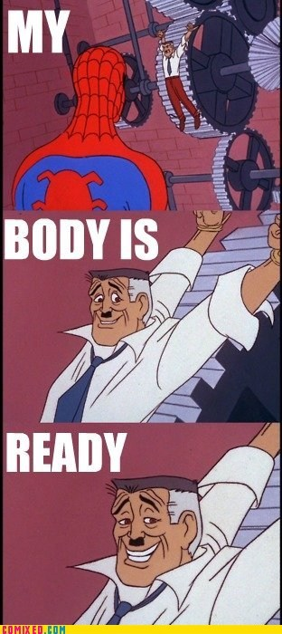 60s spider-man,body is ready,gears,Spider-Man,Superhero IRL,Super-Lols,TV