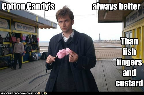 cotton candy,David Tennant,doctor who,fish fingers and custard,the doctor