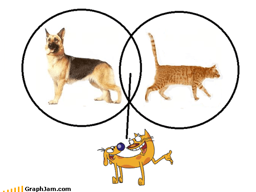 cat CatDog dogs frog venn diagram - 5460022784