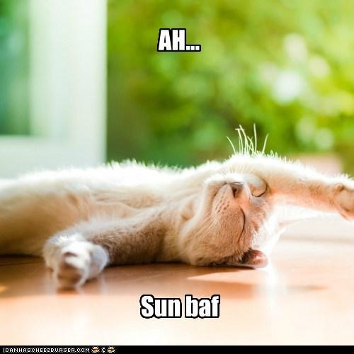 AH... Sun baf