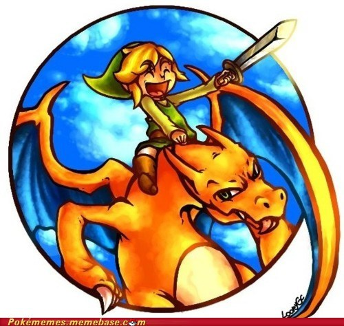art,charizard,link,Skyward Sword,zelda