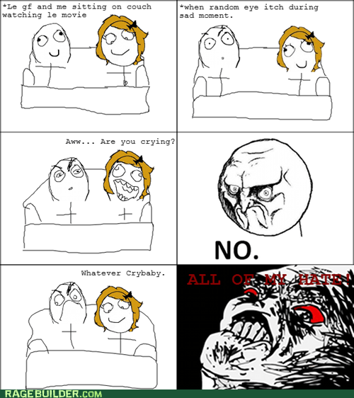 crybaby crying eye itch movies Rage Comics relationships - 5460472576