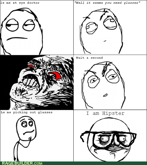 eye doctor glasses hipster Rage Comics - 5460571648