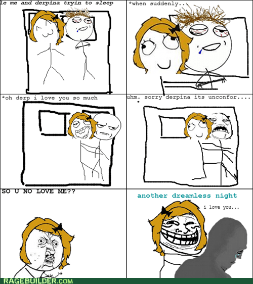 cuddles love Rage Comics sleep