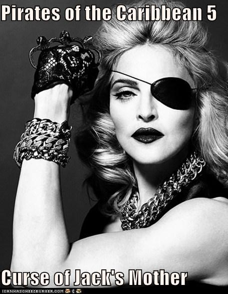 singers eye patch Madonna moms mothers old Pirates of the Caribbean sequels - 5460768000
