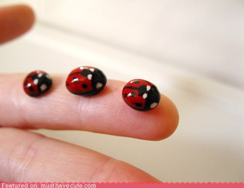 clay handmade ladybug Painted sculpture - 5461118208