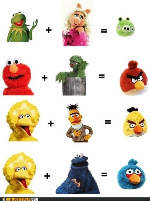 angry birds,big bird,elmo,Hall of Fame,kermit,kermit the frog,muppets,Sesame Street