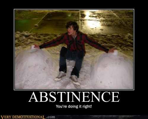 abstinence hilarious lady bags snow - 5461347840