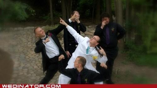 funny wedding photos groom Groomsmen pose power rangers - 5461380864
